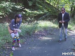 German punk Teenie swallows aged sperm