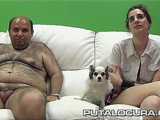PUTA LOCURA Glamorous Latin chick Teenie in Non-professional Bukkake